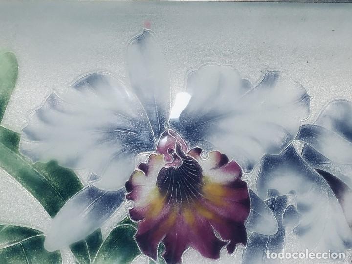 Vintage: Bandeja japonesa METAL esmalte IRISES IRIS FLORES FLOR 19x31 cm Marca Tutanka JTA - Foto 5 - 172792955