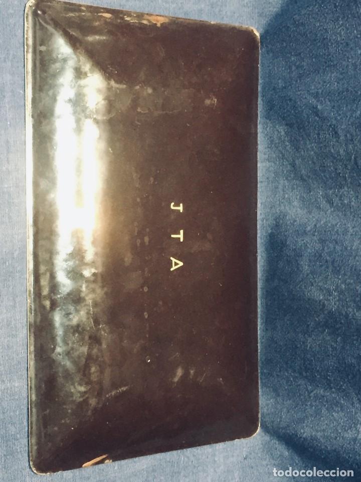 Vintage: Bandeja japonesa METAL esmalte IRISES IRIS FLORES FLOR 19x31 cm Marca Tutanka JTA - Foto 24 - 172792955
