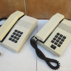 Vintage: DOS TELÉFONOS MODELO TEIDE BLANCO DE TECLAS - AÑOS 80. Lote 173220482