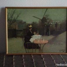 Vintage: PRECIOSO CUADRO VINTAGE ESTILO IMPRESIONISTA. Lote 173599269