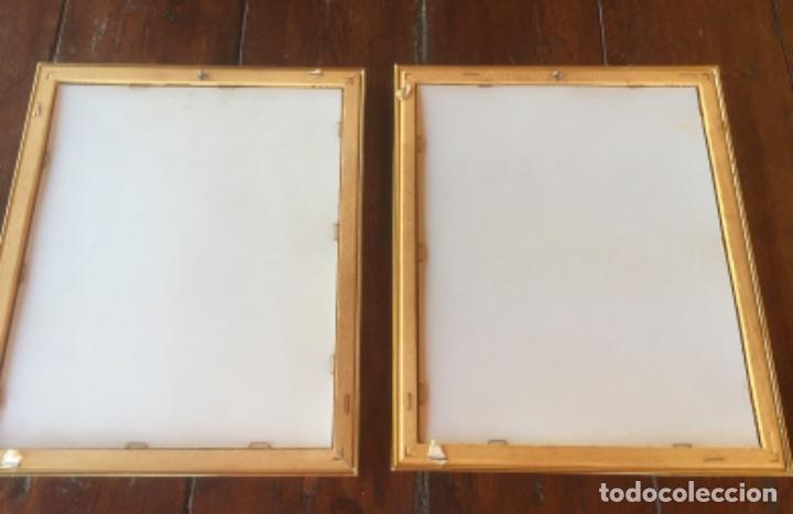 Vintage: Cuadros payasos laminas con marcos paspartú metal dorados con Cristal 30x25cm - Foto 8 - 174004627