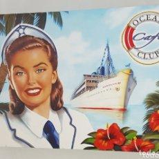 Vintage: JUEGO 2 TAZAS + PLATOS CAFE - OCEAN CLUB CAFE - NUEVO - CAR157. Lote 174043505