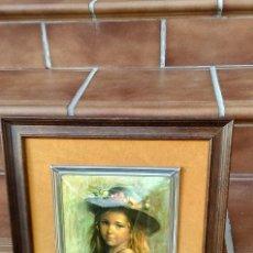 Vintage: OBRA DE VICENTE ROSO. NIÑA CON SOBRERO DE FLORES.. Lote 174047149