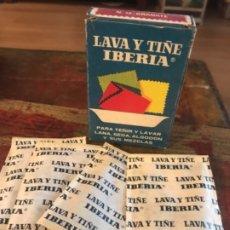 Vintage: CAJA TINTES IBERIA N12 GRANATE. CON 4 SOBRES. Lote 174630597