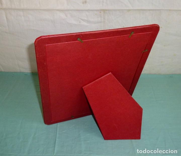 Vintage: Portafotos similar a piel rojo vintage. - Foto 5 - 174997527