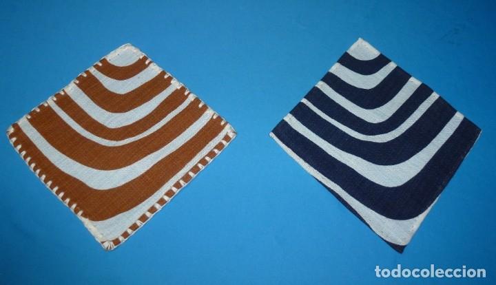 Vintage: 8 servilletas 2 colores con ribete.Años 70.Ver descripcion. - Foto 2 - 175367053
