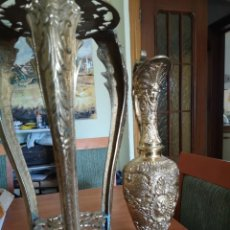 Vintage: RECIBIDOR CON ÁNFORA EN BRONCE. Lote 175983660