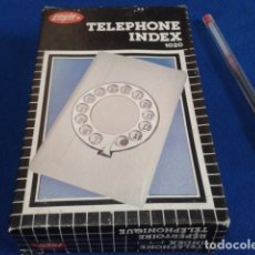 Vintage: AGENDA TELEFONICA EAGLE ( REPERTOIRE TELEPHONIQUE 1020 ) SIN ESTRENAR NUEVA EN SU CAJA . Lote 175986314
