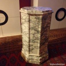 Vintage: EXCLUSIVA COLUMNA-PEDESTAL MARMOLEADA.. Lote 176133035