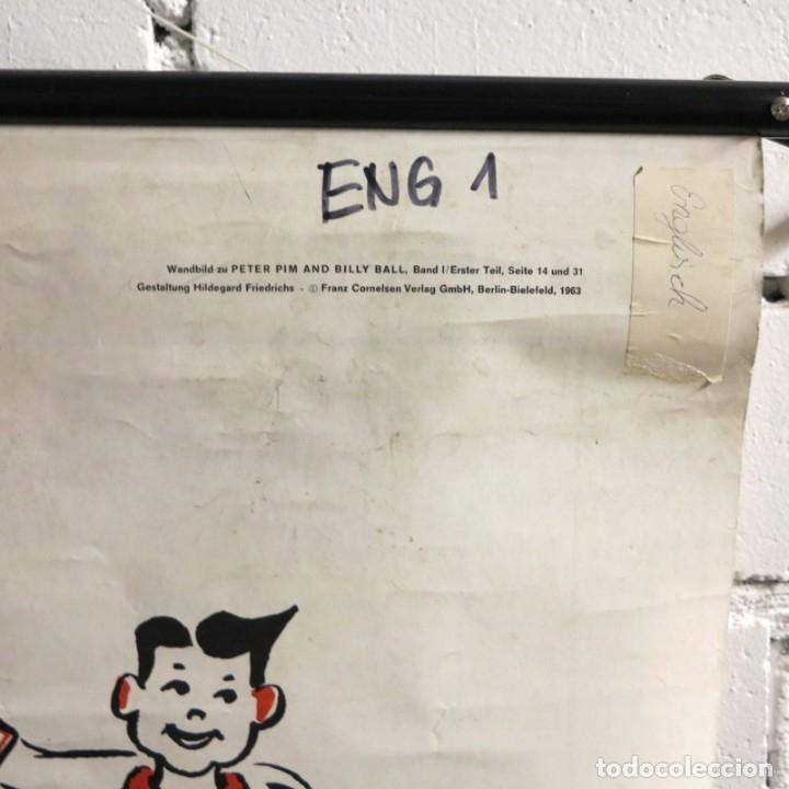 Vintage: Vintage. Familia Pim cartel de Hildegard Friedrichs para clases de ingles. 1950 - 1959 - Foto 4 - 176380939