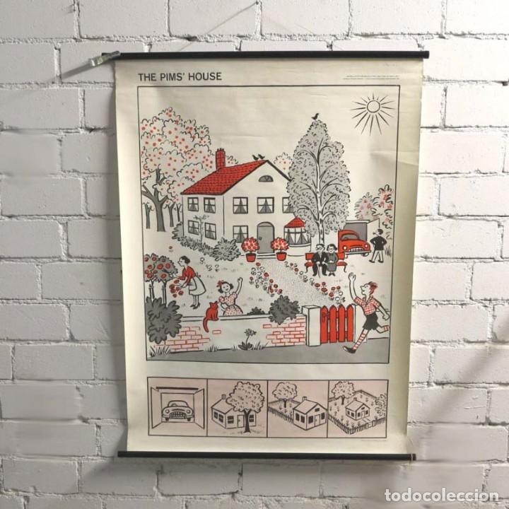 Vintage: Vintage. Familia Pim cartel de Hildegard Friedrichs para clases de ingles. 1950 - 1959 - Foto 5 - 176380939