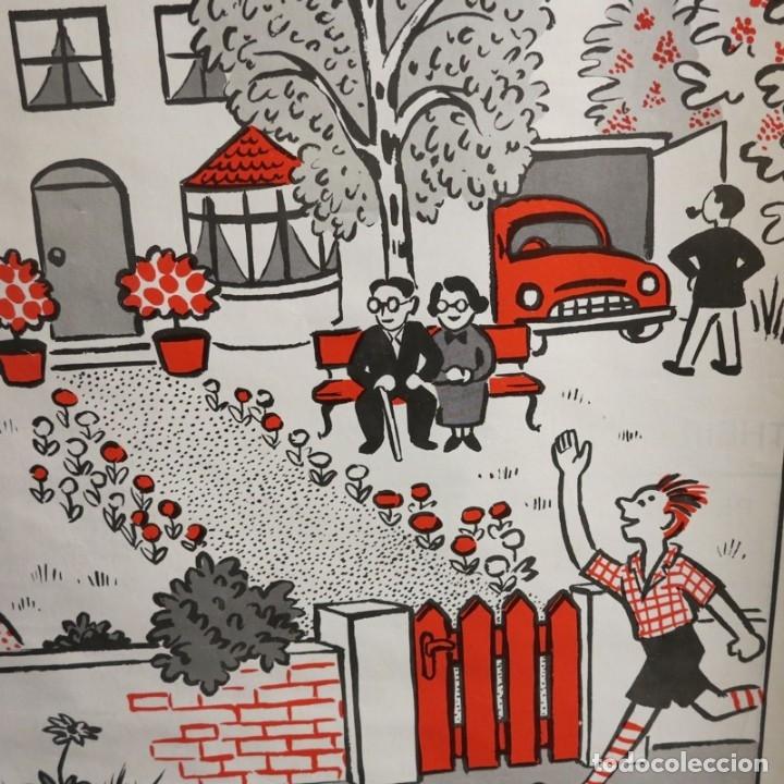 Vintage: Vintage. Familia Pim cartel de Hildegard Friedrichs para clases de ingles. 1950 - 1959 - Foto 6 - 176380939