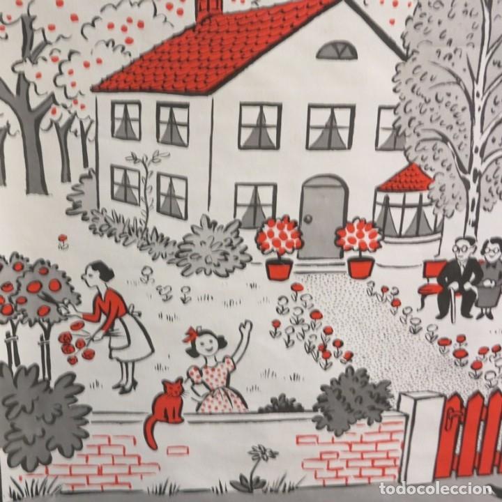 Vintage: Vintage. Familia Pim cartel de Hildegard Friedrichs para clases de ingles. 1950 - 1959 - Foto 7 - 176380939