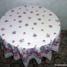 Vintage: MANTEL REDONDO ESTAMPADO.180 CM.. Lote 176492065