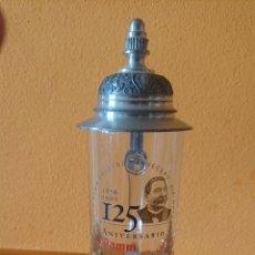 Vintage: JARRA DE CERVEZA 125 ANIVERSARIO DAMM. Lote 176636752