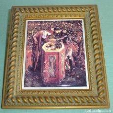 Vintage: AZULEJO ENMARCADO Y SERIGRAFIADO CON PINTURA DE EDWARD BURNE-JONES.. Lote 177964578