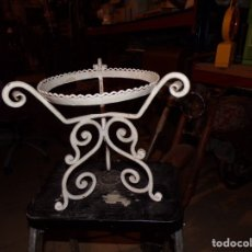 Vintage: MACETERO HIERRO FORJADO. Lote 178023558
