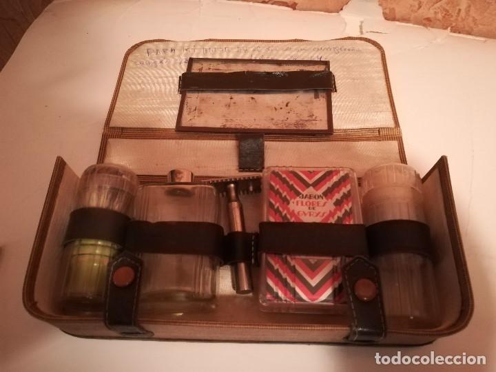 Vintage: ANTIGUO ESTUCHE KIT PARA AFEITAR DE VIAJE. - Foto 3 - 178669028