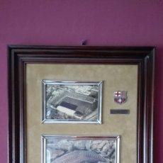 Vintage: CUADRO ESTADIOS F.C. BARCELONA. Lote 178973296