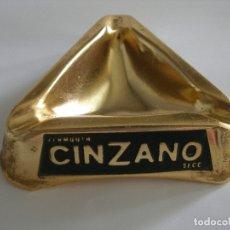 Vintage: CENICERO ALUMINIO VERMOUTH CINZANO AÑOS 70. Lote 179005333