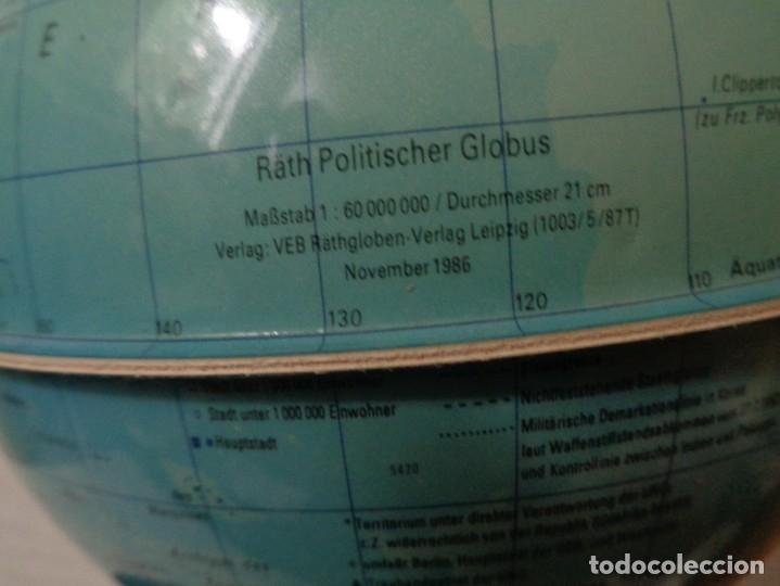 Vintage: GLOBOS CON LUZ INTERIOR, DIAMETRO 21 cm, ANTIGUO ALEMAN - DDR - Foto 3 - 179039033