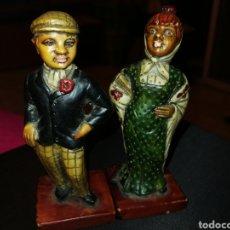 Vintage: 2 FIGURAS DE RESINA PINTADO A MANO 9.5 CM. Lote 179111340