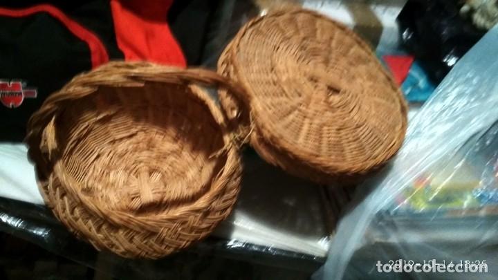 Vintage: Cesta pequeña de mimbre Con tapa - Foto 5 - 128637851