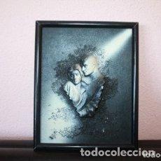 Vintage: CUADRO EN RELIEVE DE DOS ENAMORADOS. Lote 179516385