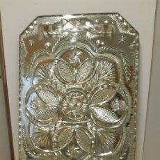 Vintage: BANDEJA DE CRISTAL TALLADO. 25 X 40, EN PERFECTO ESTADO. MUY VINTAGE. MUY BONITA. Lote 179519748