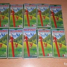 Vintage: 10 CAJAS DE COLORES 6 LAPICES ALPINO. Lote 180413038