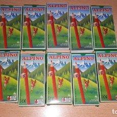 Vintage: 10 CAJAS DE LAPICES ALPINO DE 6 COLORES. Lote 180413270