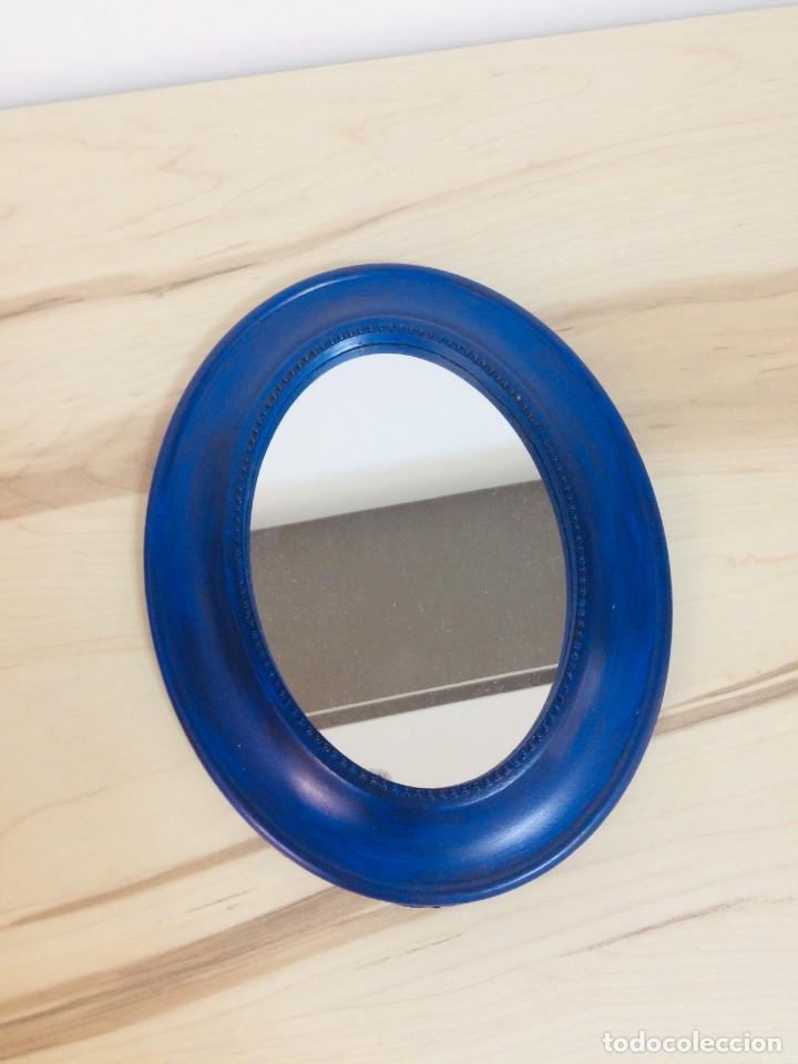 Vintage: Espejo Vintage Azul - Foto 2 - 180836262