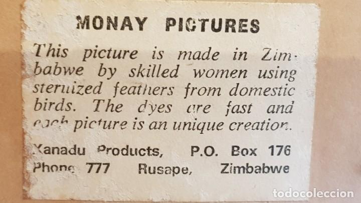 Vintage: CURIOSO CUADRO DE DECORACIÓN HECHO A MANO EN ZIMBABWE / 11.5 X 25.5 CM /CON CRISTAL / LEER. - Foto 4 - 180872580