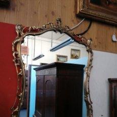 Vintage: ESPEJO DE BRONCE BARROCO. Lote 181129807