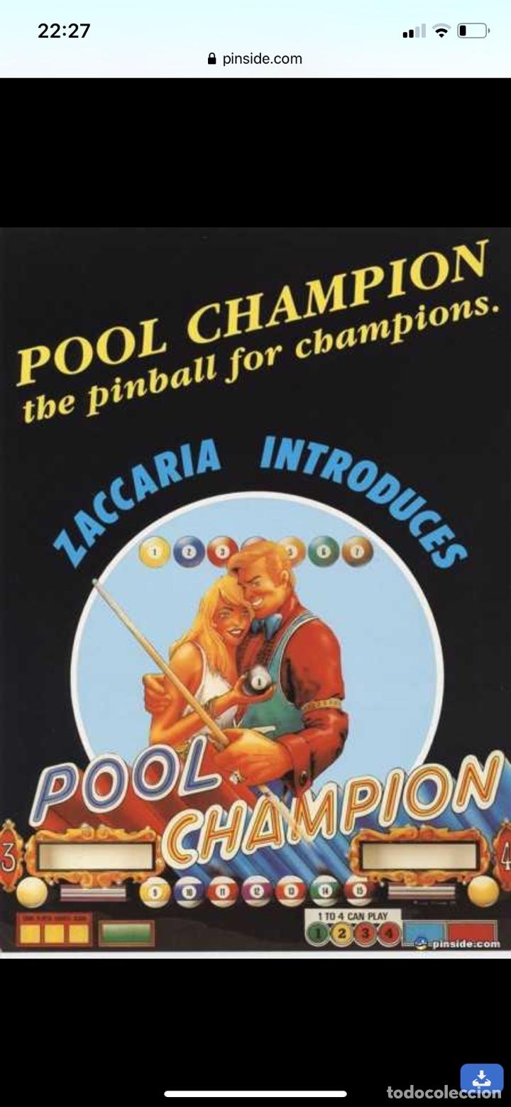 Vintage: Pinball Zaccaria pool champion diciembre 1985 - Foto 19 - 176867094
