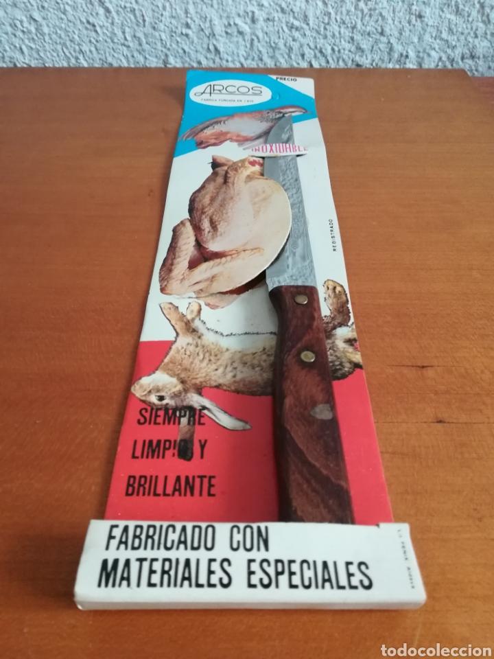 Vintage: Cuchillo ARCOS - Siempre limpio y brillante - Acero Inoxidable - Decoración Vintage Caza Perdiz - Foto 2 - 181450678