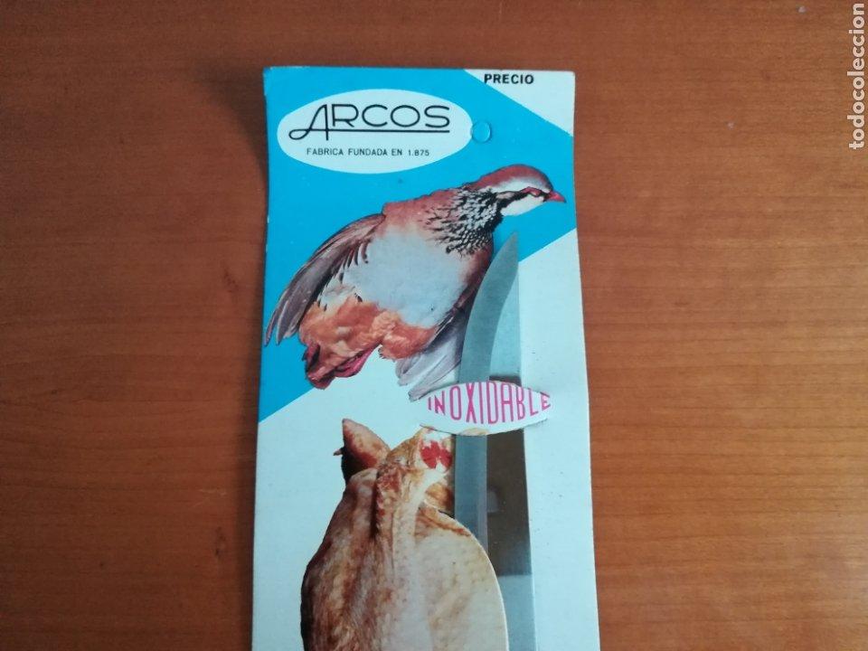 Vintage: Cuchillo ARCOS - Siempre limpio y brillante - Acero Inoxidable - Decoración Vintage Caza Perdiz - Foto 6 - 181450678