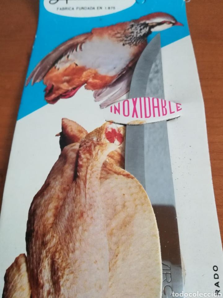 Vintage: Cuchillo ARCOS - Siempre limpio y brillante - Acero Inoxidable - Decoración Vintage Caza Perdiz - Foto 8 - 181450678