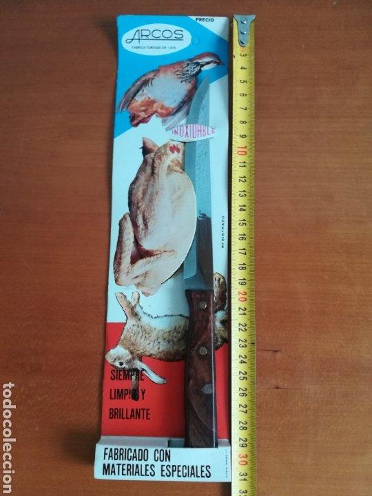 Vintage: Cuchillo ARCOS - Siempre limpio y brillante - Acero Inoxidable - Decoración Vintage Caza Perdiz - Foto 11 - 181450678