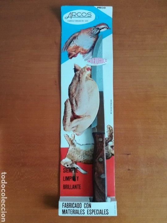 CUCHILLO ARCOS - SIEMPRE LIMPIO Y BRILLANTE - ACERO INOXIDABLE - DECORACIÓN VINTAGE CAZA PERDIZ (Vintage - Decoración - Varios)
