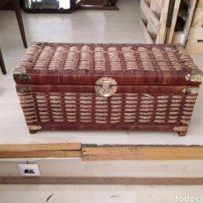 Vintage: BAUL DE MIMBRE VINTAGEB. Lote 181745242