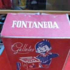 Vintage: CAJA DE CARTON GRANDE GALLETAS FONTANEDA MARIA. Lote 182268587