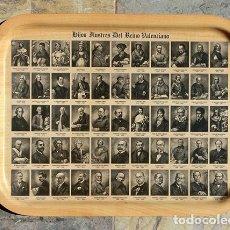 Vintage: CURIOSA BANDEJA - HIJOS ILUSTRES DEL REINO VALENCIANO - ESTILO VINTAGE - COLECCIONISTAS - RARA . Lote 182322492