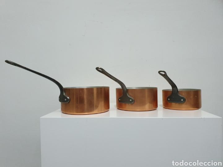 Vintage: Cazos de cobre y hierro. - Foto 2 - 183087528