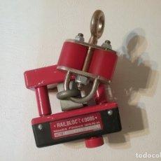 Vintage: APARATO RAILBLOC PROTECTA VERTICAL ANTICAIDAS. Lote 183194095
