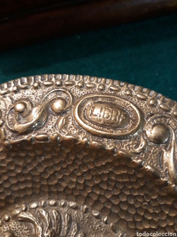 Vintage: Cenicero FRANCO Falange águila imperial Reyes Católicos España UNA GRANDE y LIBRE bronce MACIZO - Foto 5 - 183342362