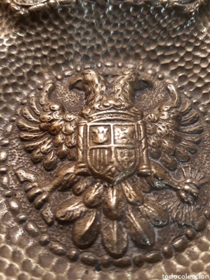 Vintage: Cenicero FRANCO Falange águila imperial Reyes Católicos España UNA GRANDE y LIBRE bronce MACIZO - Foto 7 - 183342362