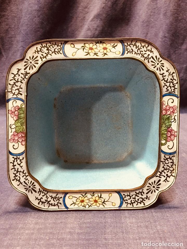Vintage: JARDINERA CHINA COBRE DORADO ESMALTADO PINTADO A MANO 10 CM ALTO 2ª MITAD S XX - Foto 5 - 183362115
