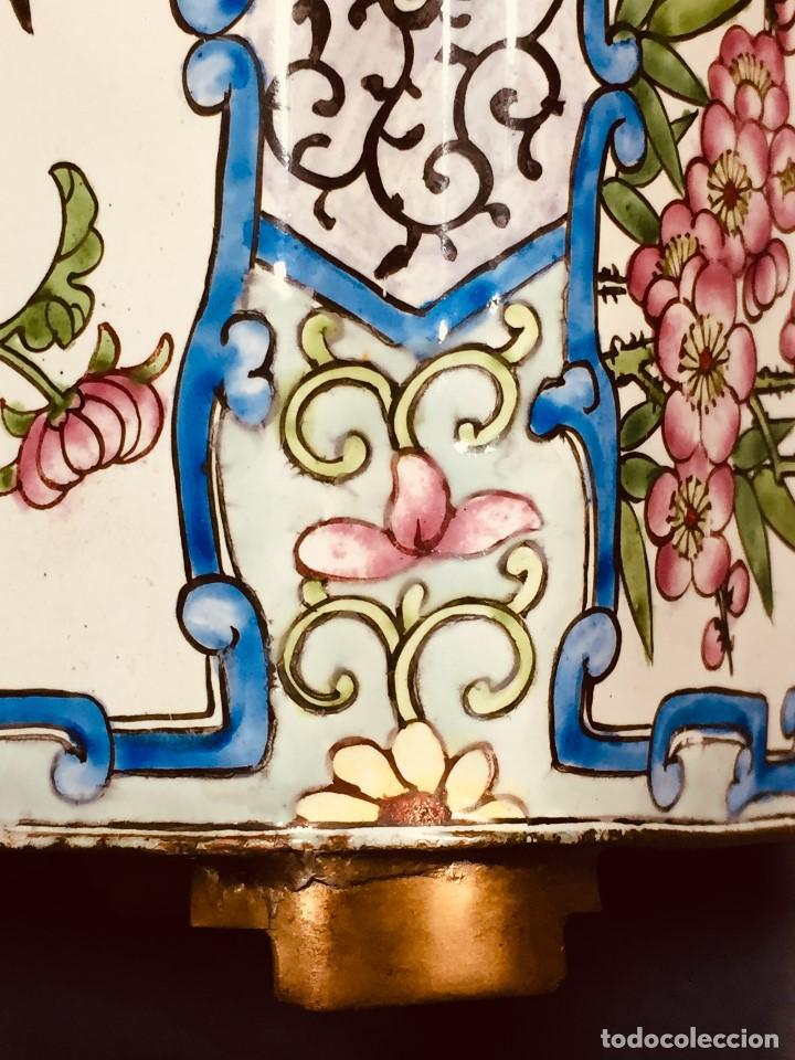 Vintage: JARDINERA CHINA COBRE DORADO ESMALTADO PINTADO A MANO 10 CM ALTO 2ª MITAD S XX - Foto 15 - 183362115