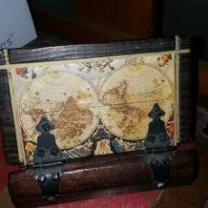 Vintage: CAJA DE MADERA MAPAMUNDI VINTAGE. Lote 183682388